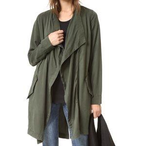 NWT Bb Dakota Carthy Drape Front Coat Army Green